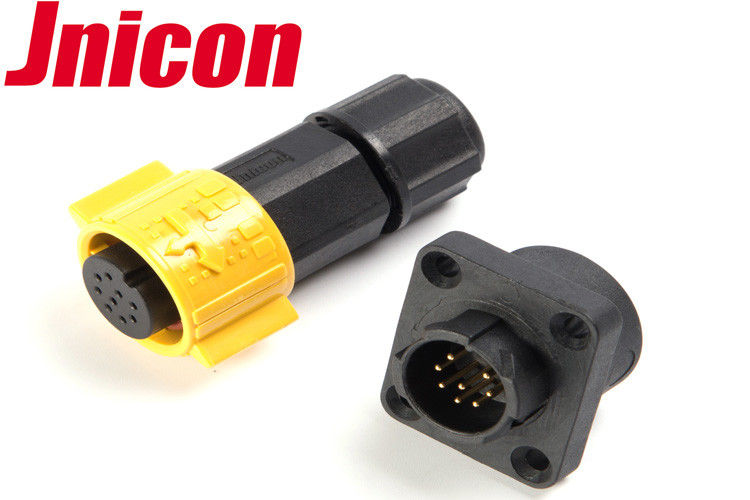 Super Stable Waterproof Data Connector , Jnicon Waterproof Connector 8 Pin