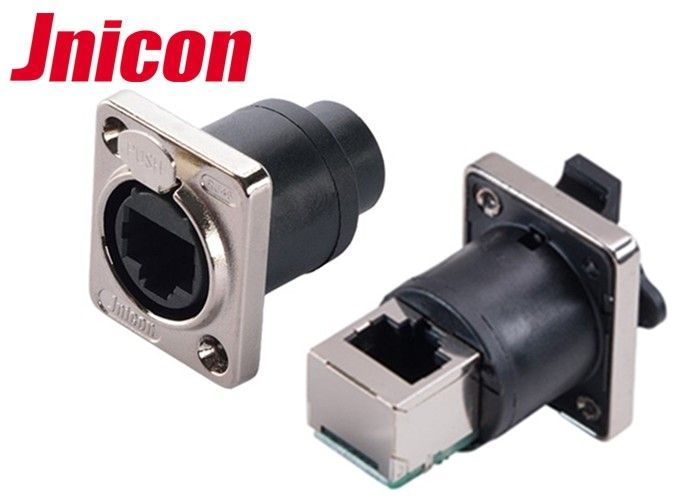 IP44 IP65 Waterproof Data Connector , powerCon Connector Straight & 90 Degree Panel